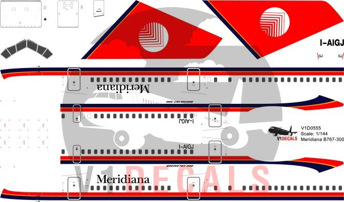 Meridiana -Boeing 767-300 Decal