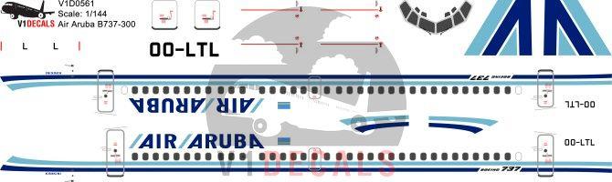 Air Aruba -Boeing 737-300 Decal