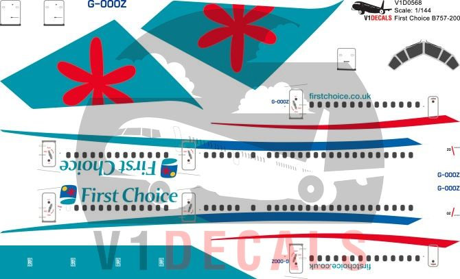 First Choice Airways -Boeing 757-200 Decal