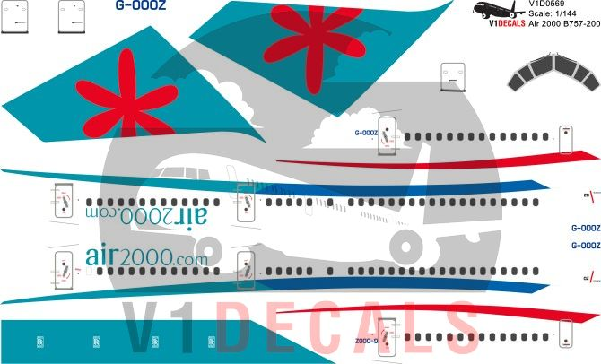 Air 2000, First Choice Airways -Boeing 757-200 Decal