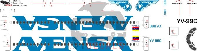Avensa -Boeing 737-300 Decal