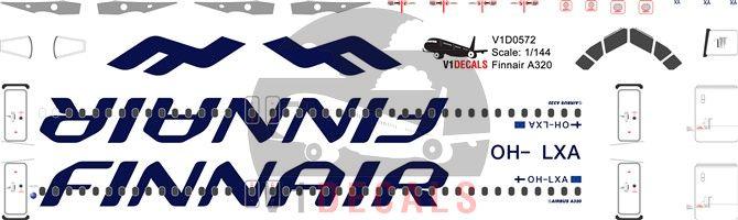 Finnair Airbus A320 Decal