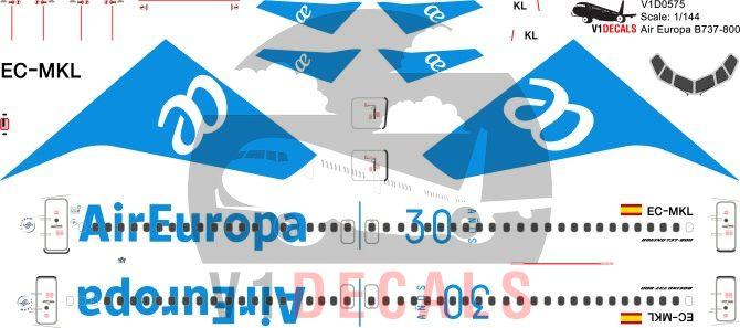 Air Europa -Boeing 737-800 Decal