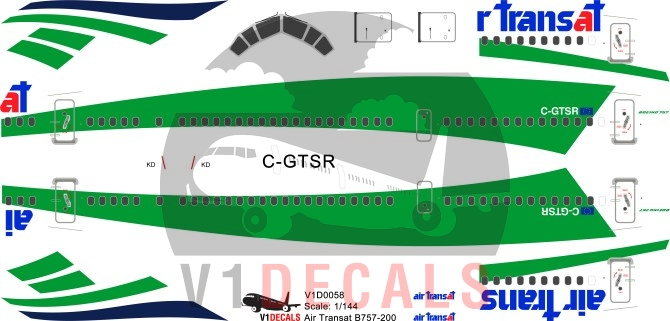 Air Transat, Transavia --Boeing 757-200 Decal