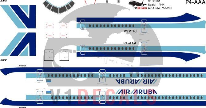 Air Aruba -Boeing 757-200 Decal