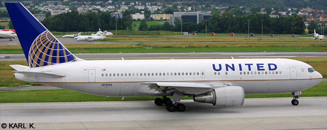 United Airlines Boeing 767-200 Decal