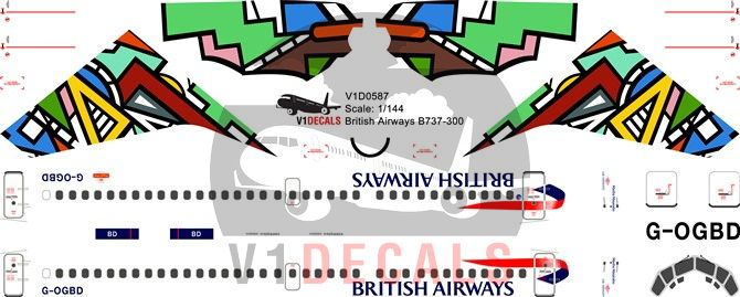 British Airways Boeing 737-300 Decal