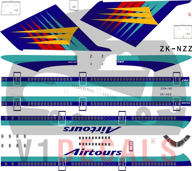 Airtours International, Air New Zealand Boeing 747-200 Decal