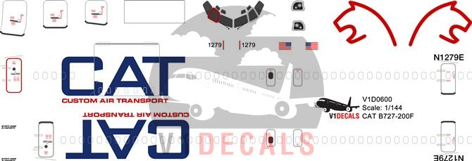 Custom Air Transport CAT Boeing 727-200 Decal