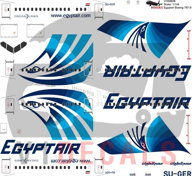 Egyptair Boeing 787-9 Decal