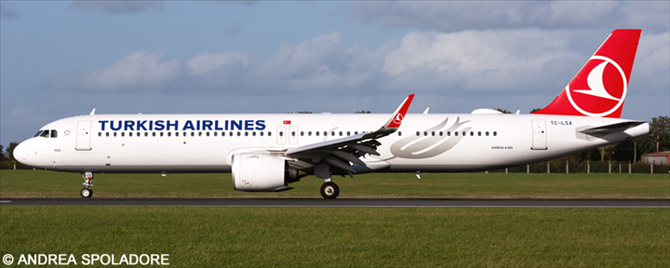 Turkish Airlines Airbus A321neo Decal