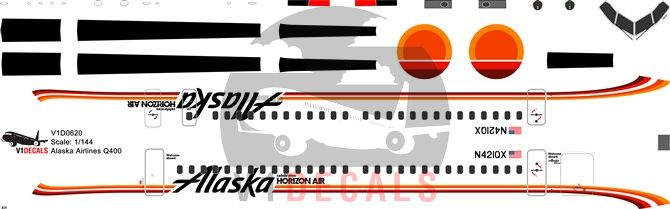 Alaska Airlines, Horizon Air Bombardier Dash 8-Q400 Decal