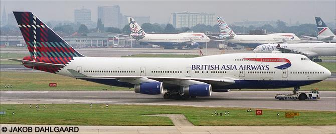 British Airways, British Asia Airways Boeing 747-400 Decal