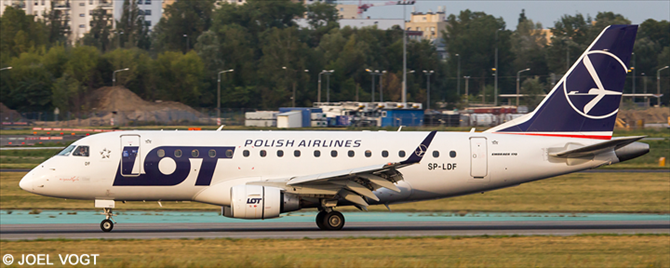 LOT Polish Airlines Embraer E170 Decal