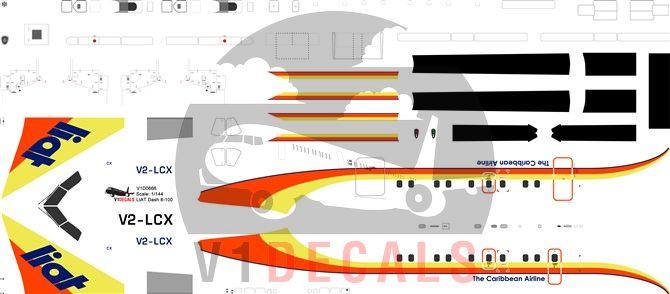 LIAT DeHavilland Dash 8-100 Decal