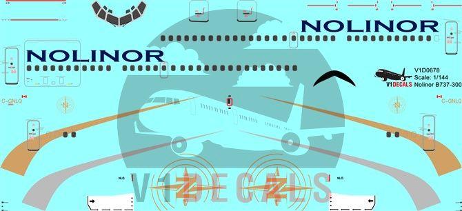 Nolinor Aviation Boeing 737-300 Decal