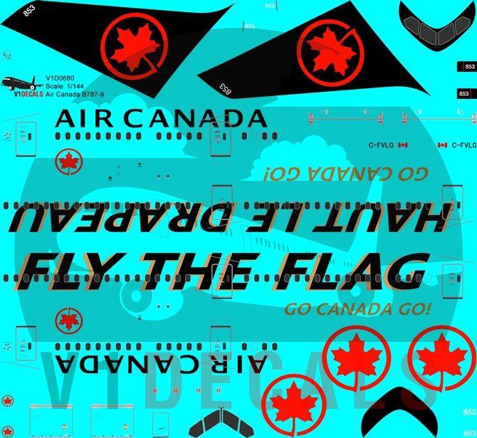 Air Canada Boeing 787-9 Decal
