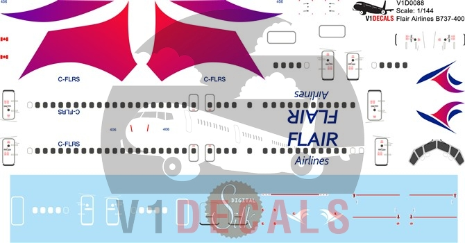 Flair Air -Boeing 737-400 Decal