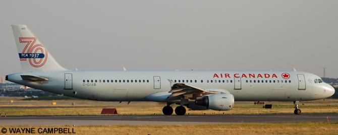 Air Canada Airbus A321 Decal