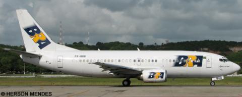 BRA Transportes Aereos -Boeing 737-300 Decal