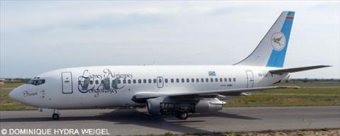 Lignes Aeriennes Congolaises LAC Boeing 737-200 Decal
