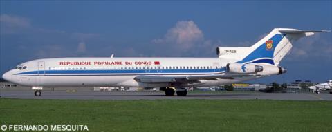 Republique Populaire Du Congo Boeing 727-200 Decal