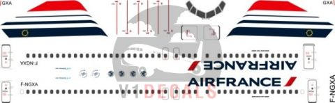 Air France --Boeing 737-800 Decal