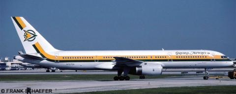 Guyana Airways -Boeing 757-200 Decal