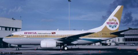 BWIA (British West Indies Airways) --Boeing 737-700 Decal