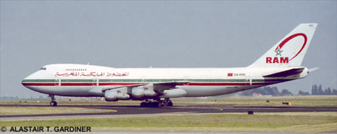 Royal Air Maroc (RAM) -Boeing 747-200 Decal