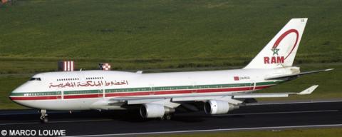 Royal Air Maroc (RAM) -Boeing 747-400 Decal