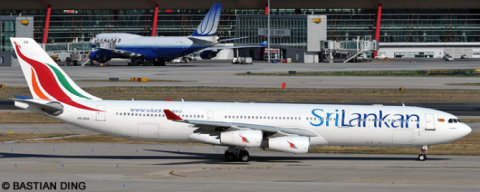 Sri Lankan Airlines -Airbus A340-300 Decal