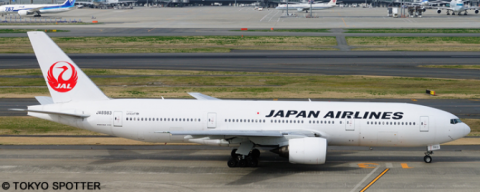Japan Airlines (JAL) -Boeing 777-200 Decal