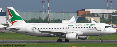 Bulgaria Air Airbus A320 Decal