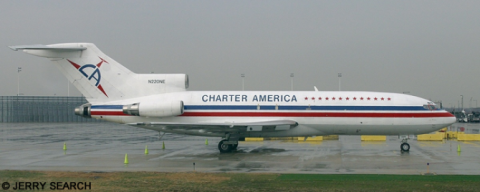 Charter America Boeing 727 --Boeing 727-100 Decal