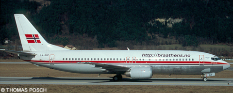 Braathens Safe -Boeing 737-400 Decal