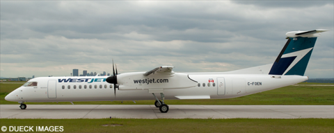 Westjet Encore Bombardier Dash 8-Q400 Decal