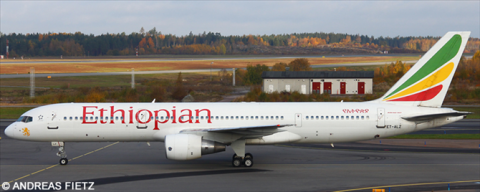 Ethiopian Airlines --Boeing 757-200 Decal