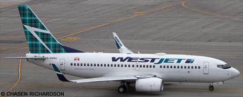 Westjet --Boeing 737-700 Decal