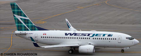 Westjet --Boeing 737-700 Decal