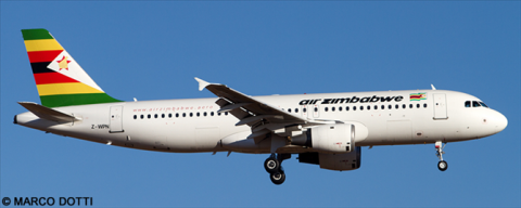 Air Zimbabwe Airbus A320 Decal