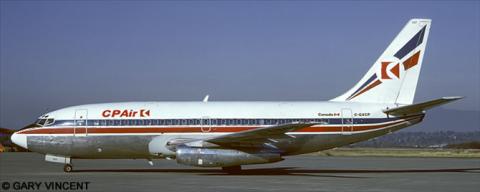 CP Air, Britannia Airways Boeing 737-200 Decal