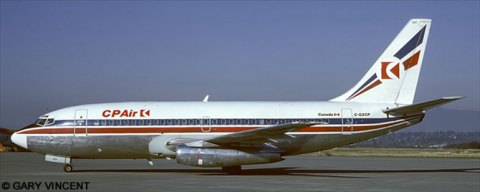 CP Air, Britannia Airways --Boeing 737-200 Decal