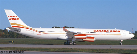 Canada 3000 -Airbus A340-300 Decal