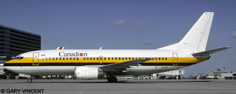 Canadian Airlines, Monarch Airlines -Boeing 737-300 Decal