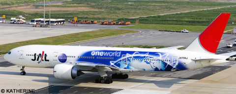 Japan Airlines JAL, Oneworld Various Airlines -Boeing 777-200 Decal