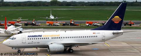 Hamburg International --Boeing 737-700 Decal