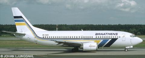 Braathens, Transwede -Boeing 737-300 Decal