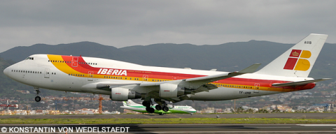 Iberia, Air Atlanta Icelandic -Boeing 747-400 Decal