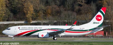 Biman Bangladesh -Boeing 737-800 Decal